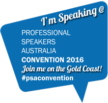 Professional Speakers Australia Convention 2016